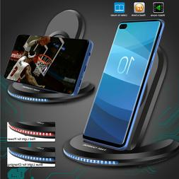 Qi Wireless Fast Charger Charging Pad Stand For Samsung S9 S