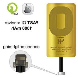 QI Receiver for IPhone 5- 5c- SE- 6- 6 Plus- 7- 7 Plus- IPho
