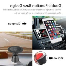Qi Fast Charging Wireless Charger Car Holder Mount for Samsu