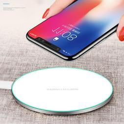 Qi Fast Wireless Charger&Charging Pad for iPhone X/8/8 Plus&