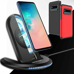 Qi Fast Wireless Charger Stand Pad For Samsung Galaxy Note 1