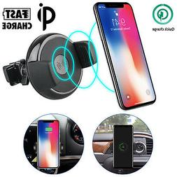 Qi Wireless Car Charger Air vent Mount Holder For Samsung S8