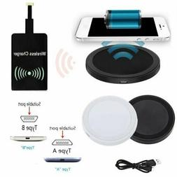 Qi Wireless Charger Charging Mat+Receiver For Samsung Galaxy