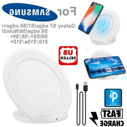 Qi Wireless Fast Charger Charging Stand Dock Pad For Samsung