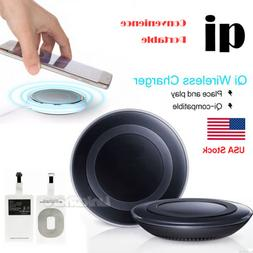 US Local Selling Qi Wireless Fast Charger Charging Pad For S