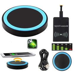 Universal Qi Wireless Charger Pad + Charging Receiver for An