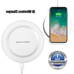 White Qi Wireless Charger Pad For Samsung Galaxy S9 S9 Plus