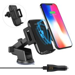 Wireless Car Charger, QI Adjustable Fast Wireless Charger Mo