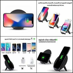 Wireless Charger for iPhone 8/8 Plus, X, YOLIKE 2 Coils QI F