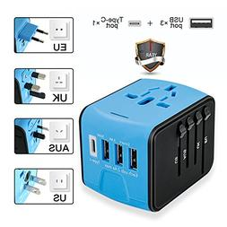 Travel Adapter, Universal International Travel Power Adapter