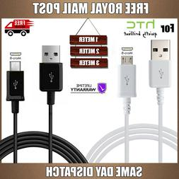 For All HTC Phones 1m 2m 3m Fast Micro-USB Data Sync Charger