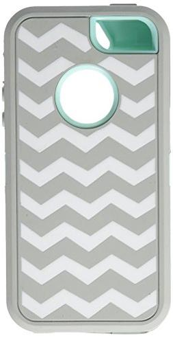 Allmet Hybrid Armor  Rubber Silicone Cover Case For iPhone 5