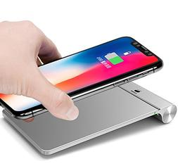 Aluminum Wireless Charger Pad,iPhone X Wireless Charger,7.5W