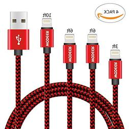 Wodeer Apple Charger Iphone Cable – 4-Pack Nylon Braided U