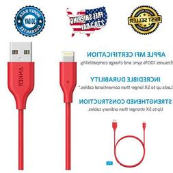 Anker Apple iPhone USB Charger Cable & Data Sync Cord, 3ft,
