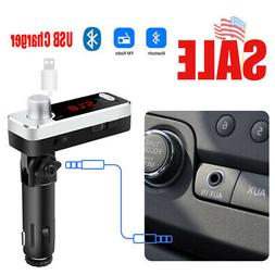 AU Car Bluetooth Wireless AUX USB Charger Free Call Audio Re