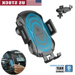 Auto Clamping Wireless Qi Car Charger Mount 10W Fast Chargin