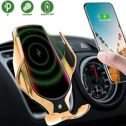 Automatic Clamping Qi Wireless Car Charger Mount Air Vent Ce