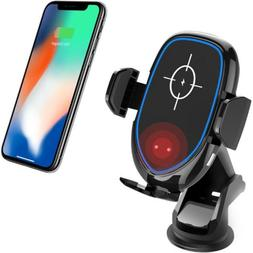 Automatic Clamping Qi Wireless Car Charger / Receiver Mount