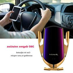 Automatic Clamping Smart Sensor Car Air Vent Phone Wireless