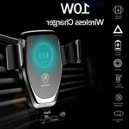 Automatic Clamping Wireless Car Charger Holder Receiver Moun