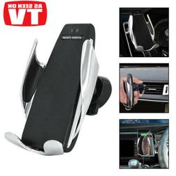 Automatic Clamping Wireless Car Charger Mount Phone Holder F