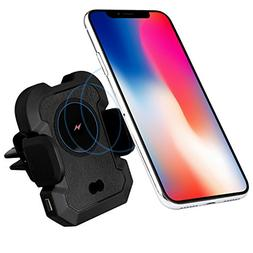 IKOPO Automatic Phone Holder for Car with Wireless Charger,W