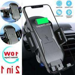 Automatic Qi Clamping Wireless Fast Charging Charger Car Mou