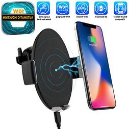 Automatic Sensor Wireless Charger Car Mount, Smart Touch Qi