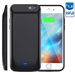 5000mAh Battery Case for iPhone 6S/6, Vproof Rechargeable Ex