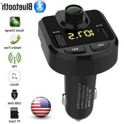 Bluetooth Car USB Charger FM Transmitter Wireless Radio Adap