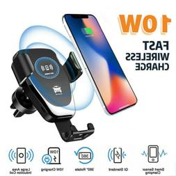Car Fast Wireless Charger Stand Holder For Samsung Galaxy S9