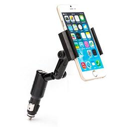 Car Mount Charger Plug Swivel Holder with USB Port Dock Crad
