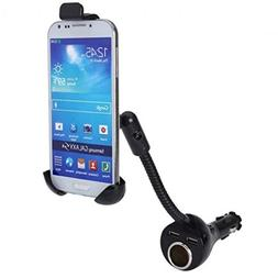 Car Mount Lighter Socket Charger Dual USB Port Holder for US