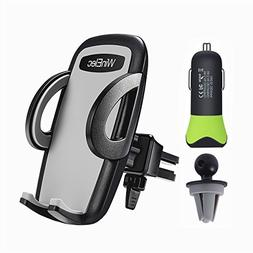 Car Phone Mount, 24W 4.8A Car Charger and Universal Smartpho