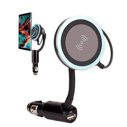 Car USB Cigarette Lighter Qi Wireless Phone Charger Holder M