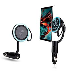 Car Wireless Cellphone Charger,Magnetic Mount with 2.0A Cabl