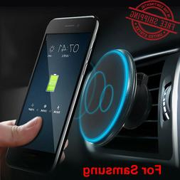 Car Wireless Charger Magnetic Holder Charging Cell Phone Das