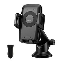 Seneo Cell Phone Holder for Car, QI Fast Wireless Car Charge