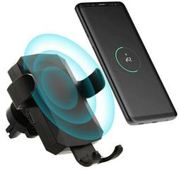 Cell Phone Mount Cradle Universal Vent 10W QI Wireless Car C