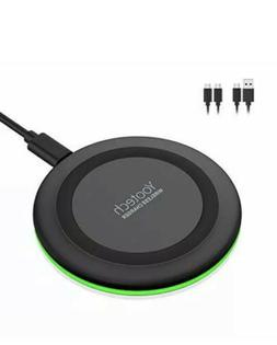 Yootech Charger,Qi-Certified 10W Max Fast Wireless Black Sam