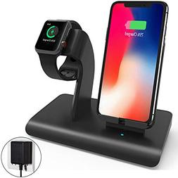 Charging Stand Compatible iPhone Apple Watch, Wireless Charg
