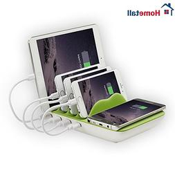 Charging Station for Multiple Devices, Hometall 4-Port USB C