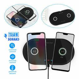 Dual Positions Qi Wireless Charger Charging Pad Mat For iPho