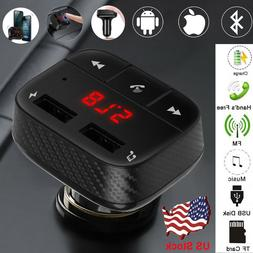Dual USB Car Charger Wireless Bluetooth FM Transmitter Hands