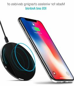Fast Charger TOZO for Galaxy and Iphone X Wireless Ultra Thi