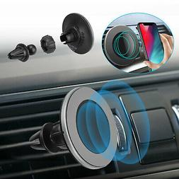 Fast Magnetic Wireless Charger Car Charging Air Vent Mount F