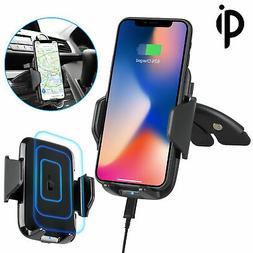 Fast Qi Wireless Car Charger CD Slot Mount Holder for Samsun