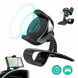 Fast Qi Wireless Car Charger Mount Holder for Samsung Galaxy