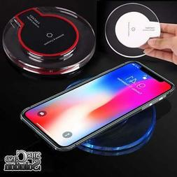 Fast QI Wireless Charger Charging Pad Dock For Apple iPhone